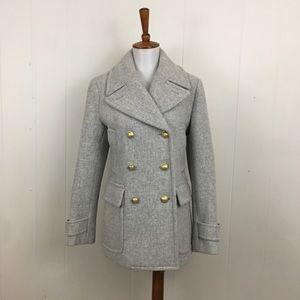 J. Crew NWOT Stadium Cloth Majesty Pea Coat